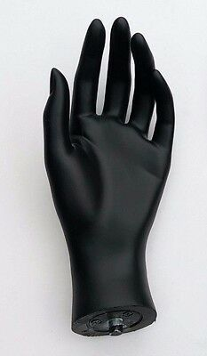 Mn-handsf-qs Black Left Female Mannequin Hand Jewelry Display Black Only