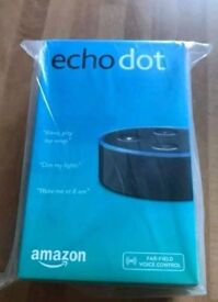 Amazon Echo Dot Black Alexa 2nd Generation Brand New Sealed