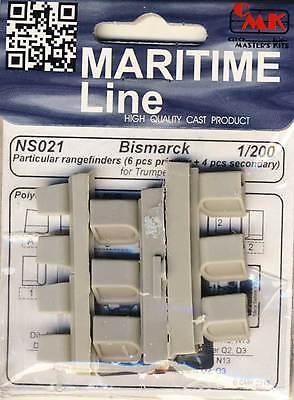 CMK Bismarck 10 Rangefinders Entfernungsmesser 1:200 Trumpeter Modell-Bausatz