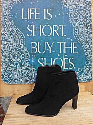 NINE WEST ROCA 2 Heeled Ankle Boots Size 6 M Black mint -