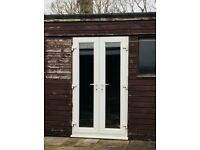 White UPVC Double Glazing French Doors