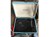 Blue Crosley Vinyl Player Turn Table Record Player