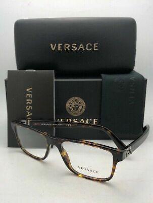 New VERSACE Rx-able Eyeglasses VE 3211 108 53-17 145 Tortoise Havana Frames