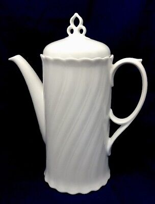"Vintage Bauscher Weiden Bavaria Germany White Teapot Tea Pot 10"""