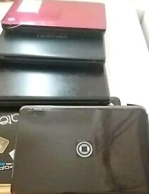 Damaged laptops for parts or repairs.