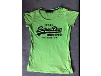 Womens SUPERDRY T-Shirt Top, Funky Colour, Medium