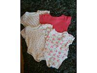 0-3 months baby girl vests