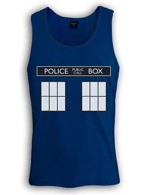POLICE BOX dr doctor show series Singlet TARDIS who Easy Halloween Costume 1962](Tardis Halloween Costume)