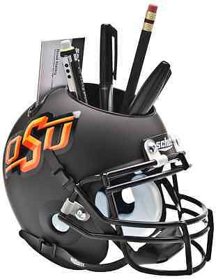 OKLAHOMA STATE COWBOYS NCAA Schutt Mini Football Helmet DESK CADDY