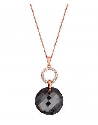 Jon Richard made with Swarovski crystals Rose Gold Wave Crystal Pendant Necklace