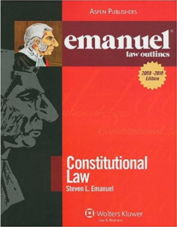 Constitutional Law Outline  By Steven Emanuel - Very Good Condition, No Marks!