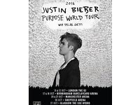 Justin Bieber 'Sold Out' tour Birmingham . (6 tickets)