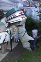 Fiberglass Boat with a 55 H.P.S. Electric start  by Evinrude
