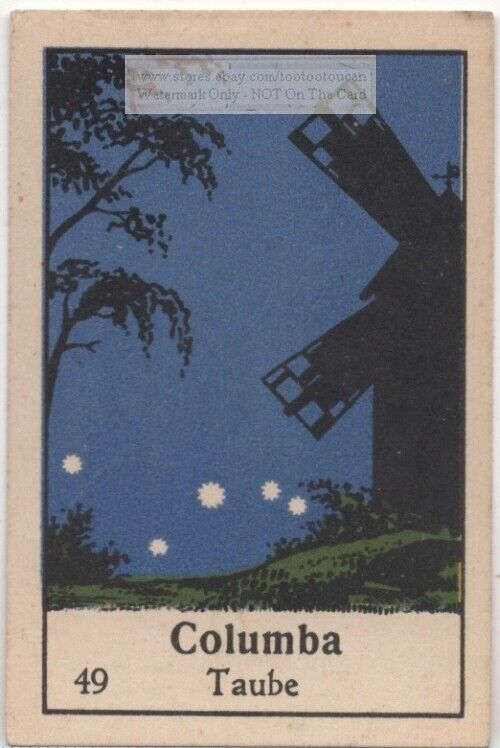 Constellation Columba The Dove  Astronomy Sky Stars 1930s Ad Card