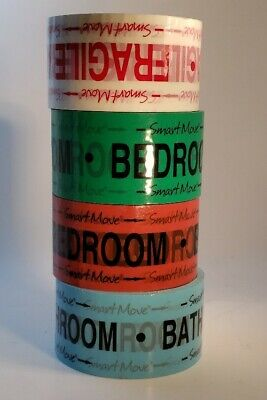 4 Colored Packing Tapes For Moving Smart Move 2 Bedrooms 1 Bath 1 Fragile