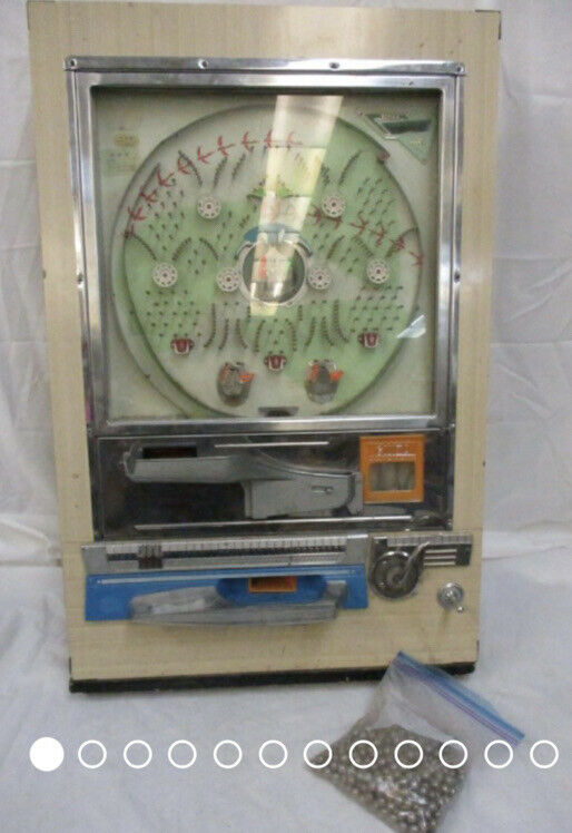 Vintage Ginza Pachinko Pinball Machine Game W/ Balls