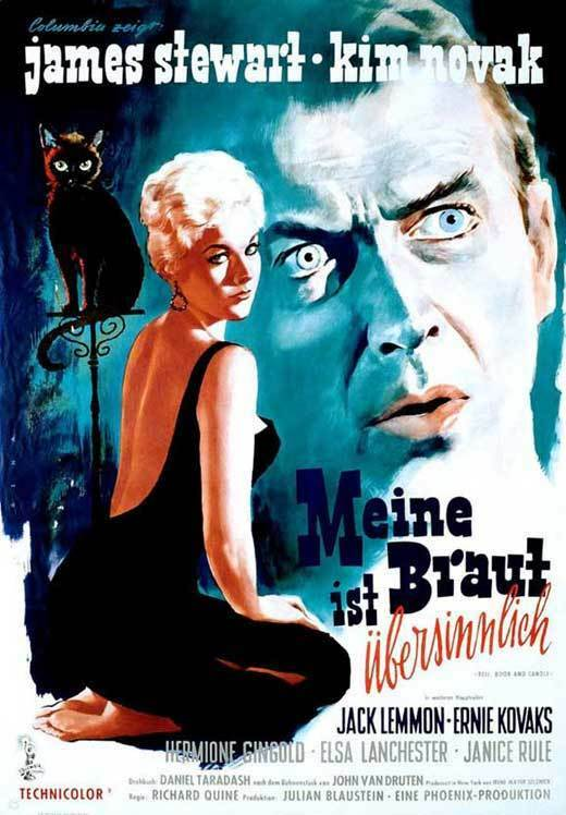 BELL BOOK AND CANDLE Movie POSTER 27x40 Italian James Stewart Kim Novak Jack