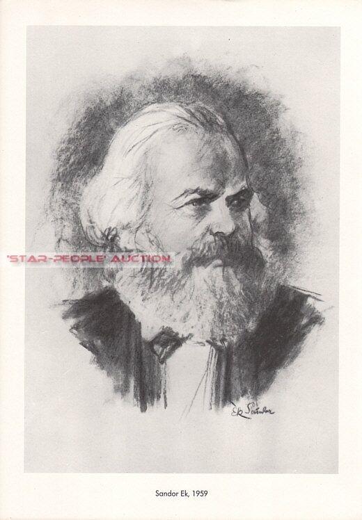 PORTRAIT OF KARL MARX *  RARE EAST GERMAN PROPAGANDA POSTER gdr communist army