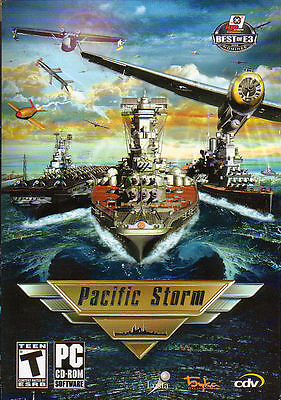 PACIFIC STORM WWII Strategy Navel Combat Simulation Rare PC Game - NEW in BOX* Simulation Game Box