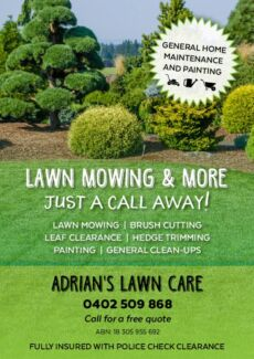 Lawn mowing and more