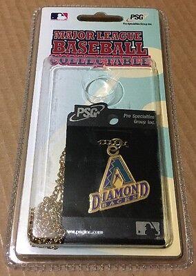 MLB Baseball Arizona Diamondbacks Necklace Dog Tag Logo Pendant Chain Retro Gold Arizona Diamondbacks Chain Necklace