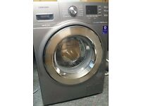 7KG GREY SAMSUNG ECO BUBBLE WASHING MACHINE,CHROME DESIGN, EXCELLENT CONDITION, FREE INSTALLATION