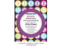 Bingo at Tewkesbury School