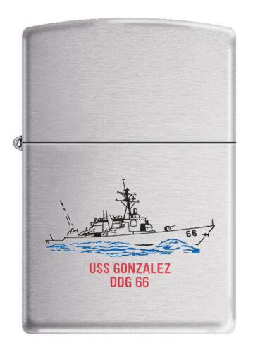 USS Gonzalez (DDG-66) Destroyer Zippo MIB  Brushed Chrome 2007