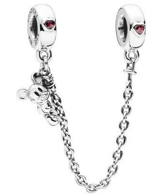 Brand New Genuine Pandora Disney 'Climbing Mickey' Safety Chain Charm 797173CZR