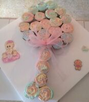 Baby Shower Cupcakes by Hungry Duckling Cakes