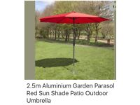 Brand new boxed Large Red garden parasol