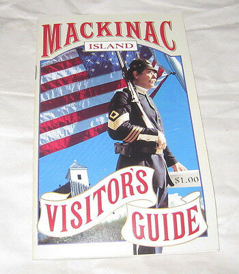 Vintage Mackinac Island Visitors Guide 1992  p40 Maps Photos PB