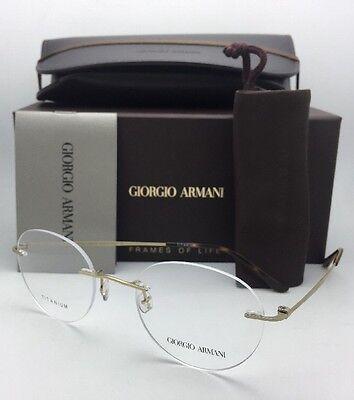 f5c93046d9 GIORGIO ARMANI Eyeglasses AR 5004-T 3002 50-20 Rimless Matte Gold Titanium  Frame