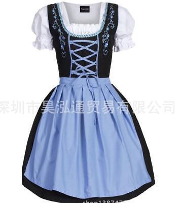 Oktober Fest Dress (Damen Oktoberfest Trachten Kleider Übergröße Schürze Köstme Tracht Dirndl)
