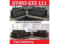 BRAND NEW 3+2 SOFA IN BLACK