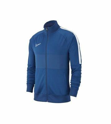 New Nike Academy 19 Full Zip Men's Medium Track Jacket Blue White AJ9180 Running