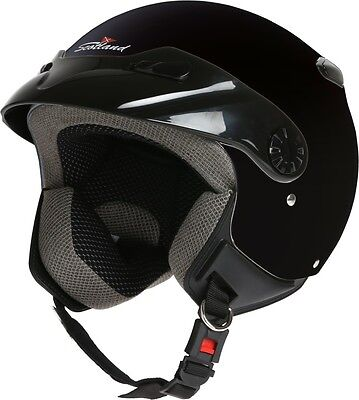 CASCO DEMI JET EASY CON FRONTINO SCOTLAND MOTO SCOOTER HELMET cod. 120014 NEW