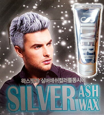 Silver Ash Color Hair Wax 3.53 oz Temporary Gray&White Color - Styling+Coloring