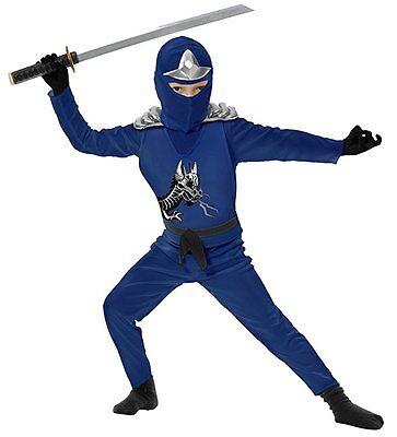 Charades Ninja Rächer Serie II Blau Panzerfarben Jungen Halloween Kostüm 84399AV