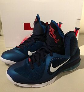 New Nike Lebron 9 Sz 10.5 Griffey Jr Swingman 100% Aithentic Obsidian Abyss Blue