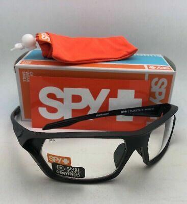 New SPY OPTIC Safety Glasses QUANTA 2 Matte Black Frames with Clear ANSI (Spy Safety Glasses)