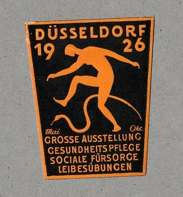 German Modernist Poster Stamp Health and Physical Education 1926 Graphic Design