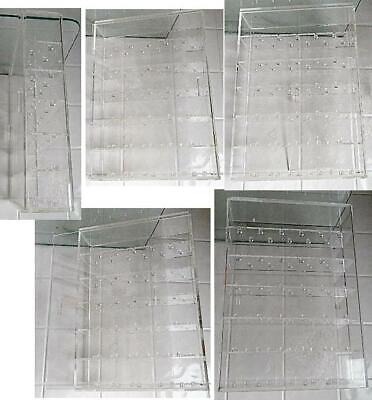 Clear Acrylic Counter Display Case Cabinet W Fixed Shelving 12 X 8.5 X 3