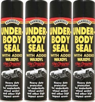 4x Hammerite Under Body Seal Aerosol Kills Rust Prevents Reappearance 600mL