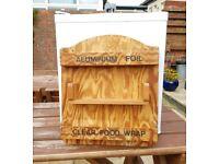 Retro Kitchen Wooden Wall Mountable Shelf