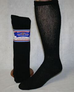 NEW 3, 6 or 12 Pair Men's Women's Diabetic Cushioned Over The Calf Socks Sz 9-15