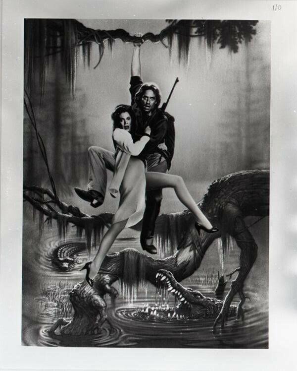 Romancing The Stone Rare Concept Poster Artwork 5x4 B/W Negative Michael Douglas