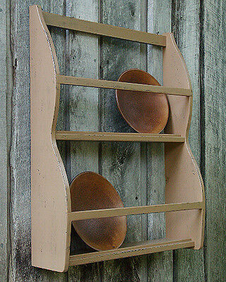 Primitive Grungy Bowl Rack Shelf/Cupboard Pattern/Plan WN120