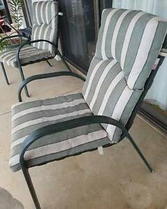 outdoor chairs with cushions Dural Hornsby Area Preview