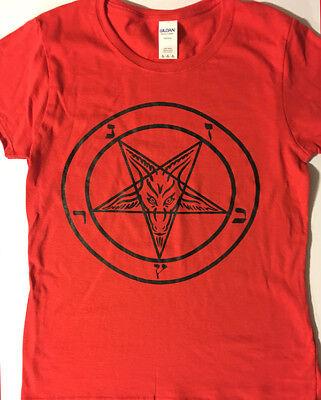 PENTAGRAM Ladies T shirt Satanic Clothing satan witch witchcraft SATANIST S- XL  - Witch Clothing